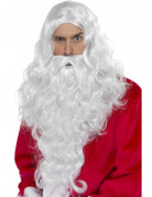 Perruque et barbe Père Noël adulte