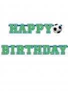 Bannière happy birthday ballon de football