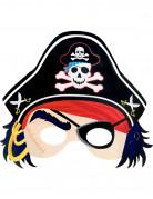 Masque en carton de pirate enfant