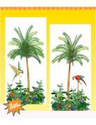 2 Décorations murales palmiers 1.65 m x 85 cm
