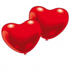 10 Ballons coeur rouge