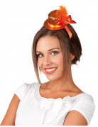 Mini chapeau orange femme