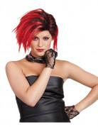 Perruque punk courte rouge femme