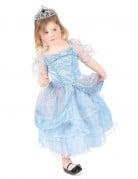 Déguisement princesse enfant bleu clair avec diadème