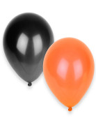 50 Ballons noirs et orange Halloween
