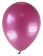 12 Ballons métallisés bordeaux 28 cm