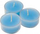 6 Bougies chauffe-plats turquoise