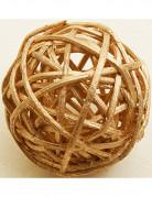 6 boules en osier dorées (Dia. 3,5 cm)