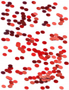 Petits confettis de table ronds rouge 0.6 cm