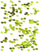 Petits confettis de table ronds verts 0.6 cm