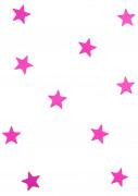 10 mini miroirs étoiles fuchsia