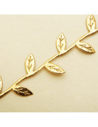 Guirlande ruban feuilles or