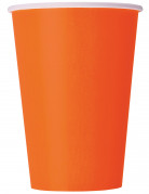 10 Gobelets orange en carton 355 ml