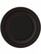 16 Assiettes noires en carton 22 cm