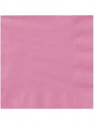 20 Serviettes en papier Rose 33 x 33 cm