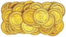 30 fausses pièces en or