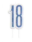 Bougie Age 18 ans bleu