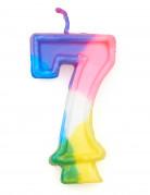 Bougie multicolore chiffre 7