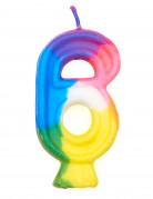 Bougie multicolore chiffre 6