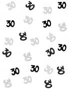 Confettis gris/noir Age 30 ans