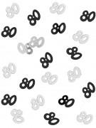 Confettis gris/noir Age 80 ans