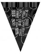 Guirlande Fanions gris Happy Birthday