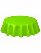 Nappe ronde en plastique vert citron 213 cm
