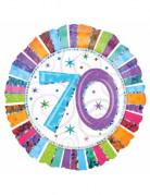 Ballon aluminium 70 ans Anniversaire Radieux