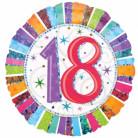 Ballon aluminium 18 ans Anniversaire Radieux