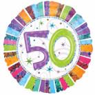 Ballon aluminium 50 ans Anniversaire Radieux