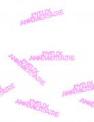 Confettis de table Joyeux anniversaire fuchsia