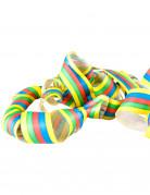 Rouleau de 20 serpentins multicolore 4m