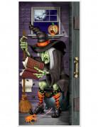 Décoration de porte sorcière aux toilettes Halloween