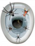 Décoration autocollante pour abattant de wc Araignées