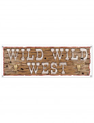 Bannière marron Wild Wild West