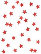 Confettis étoiles métallisés rouge