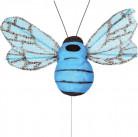 6 abeilles sur tige turquoise