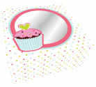 2 boîtes carton Cupcake Anniversaire