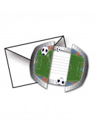 8 Cartes d'invitation avec enveloppes Stade De Foot