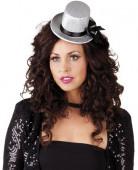 Mini chapeau gris femme