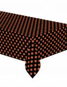 Nappe plastique noire à pois orange
