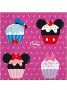 20 Serviettes en papier Mickey Minnie cupcake™ 33 x 33 cm