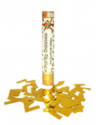 Canon à confettis dorés