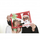 Kit photo booth kiss me Noël