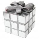 Cube de décoration de Noël argenté