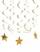 30 Décorations à suspendre étoiles or