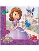 20 Serviettes en papier Princesse Sofia™ 33 x 33 cm