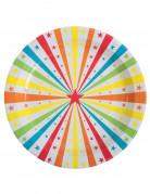 10 Assiettes en carton Cirque 23 cm