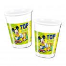 8 Gobelets plastique Mickey Foot™