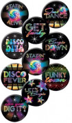 10 Badges Disco 4.5 cm